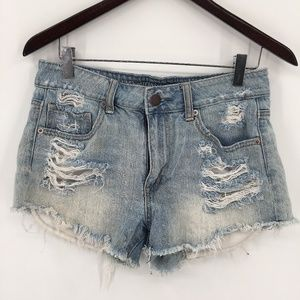 American Eagle outfitters Distressed high rise distressed Cutoff Jean Shorts 6